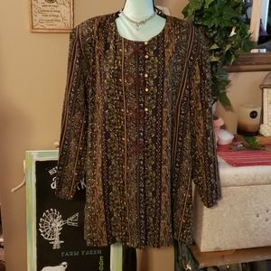 Just My Size Blouse Size 26 Brand New with Tags